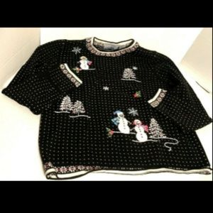 Alfred Dunner Snowmen Sweater PXS Pullover…